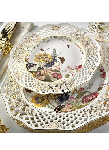 Kütahya Porselen Kahvaltı Takımı Renkli